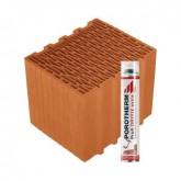 Porotherm 30 Klíma Profi tégla Dryfix habbal