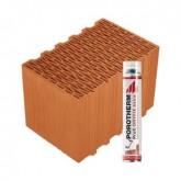Porotherm 38 Klíma Profi tégla Dryfix habbal
