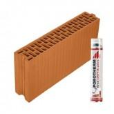 Porotherm 10/50 Profi tégla Dryfix habbal