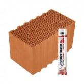 Porotherm 44 Klíma Profi tégla Dryfix habbal